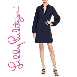 Lilly Pulitzer Shea Stretch Navy Blue Dress
